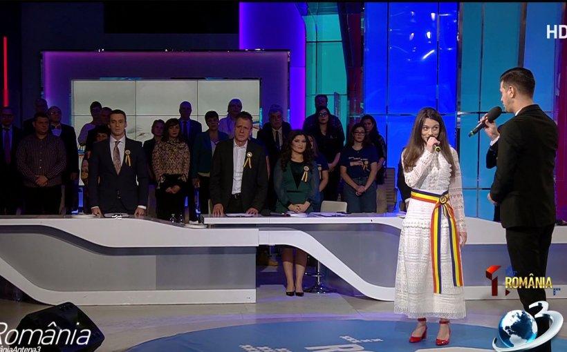 Moment emoționant în platoul Antenei 3. Laura Bretan, interpretare de excepție a imnului României în ZIUA MARII UNIRI 16