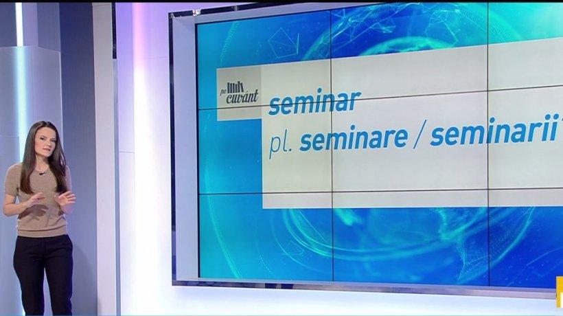 Pe cuvânt, cu Ana Iorga. Cum se spune corect, seminarii sau seminare?