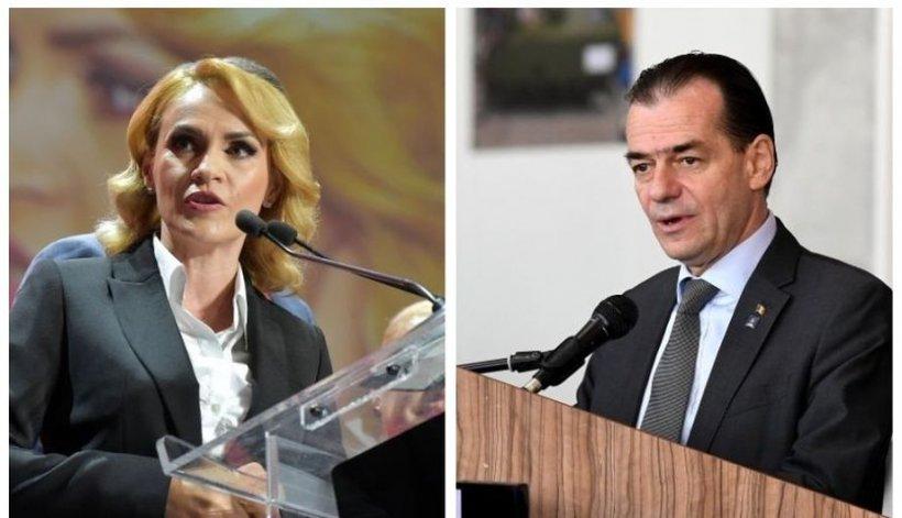 """Gabriela Firea îl amenință pe Orban cu plângerea penală pentru abuz în serviciu: """"Ludovic Orban e egal cu Liviu Dragnea"""""""