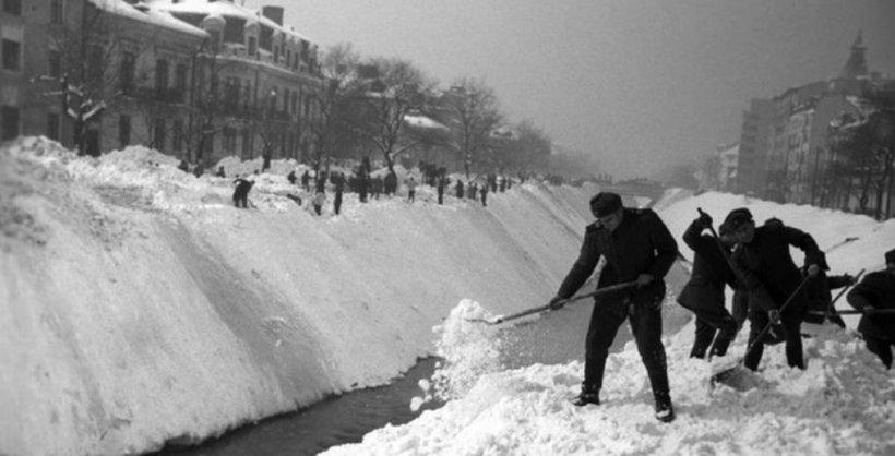 Cum a arătat cea mai grea iarnă din istoria României - GALERIE FOTO