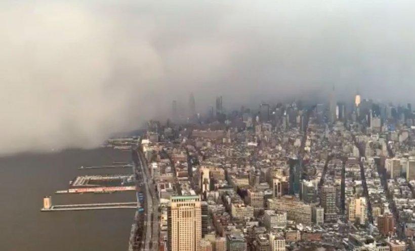 """Un nor imens a adus zăpadă în New York. """"Am crezut că e sfârşitul lumii"""" - VIDEO"""