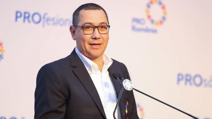 Victor Ponta: O moţiune de cenzură împotriva Guvernului Orban trebuie iniţiată de PSD