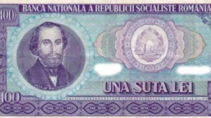 Cum arătau banii pe vremea lui Ceaușescu: Cu cât se vinde bancnota de 100 de lei - FOTO