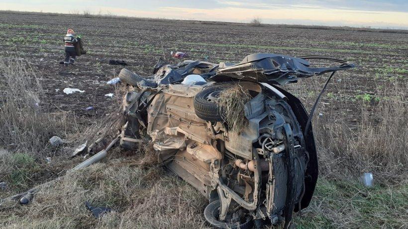 Crăciun însângerat! Trei morți într-un cumplit accident din Ialomița