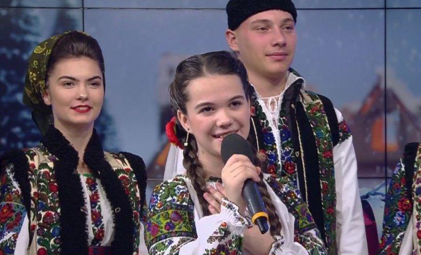 Moment muzical la Antena 3. Georgiana Onuți, iubitoare și păstrătoare de folclor la doar 12 ani