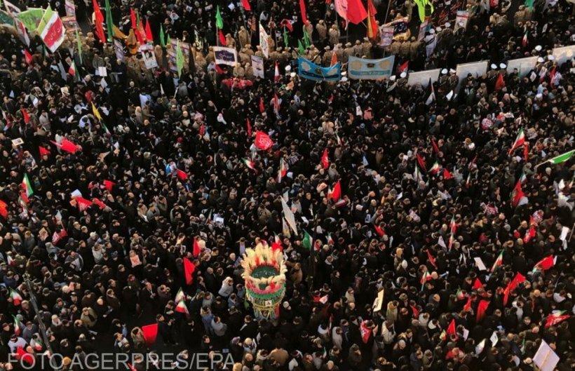 Zeci de morți și sute de răniți la înmormântarea lui Soleimani. Televiziunile transmit imagini cu oameni care se calcă în picioare - Imagini șocante!