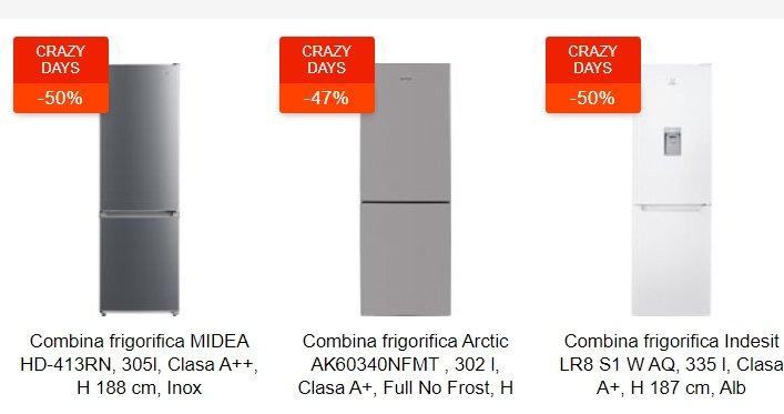 eMAG reduceri: 3 combine frigorifice la pret de frigidere. Sunt sub 1.000 de lei