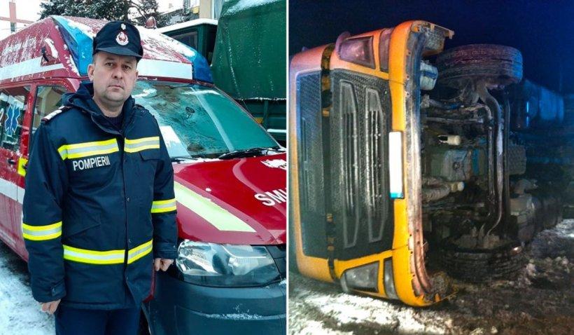 Pompier din Suceava, gest incredibil pentru un şofer rănit într-un accident: 'Inimile mari se cunosc prin gesturile simple'