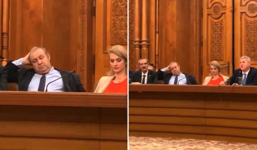 Efectul audierii lui Predoiu. Colegul său Daniel Fenechiu a fost învins de somn - VIDEO