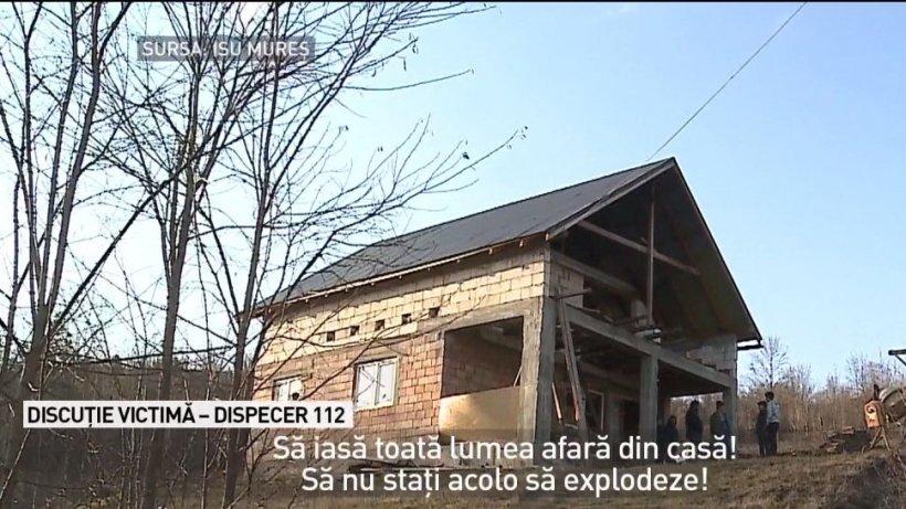 Interviu cu operatorul de la 112 care a salvat viaţa a patru oameni din Mureş. Casa lor a explodat imediat după ce au ieşit afară - VIDEO