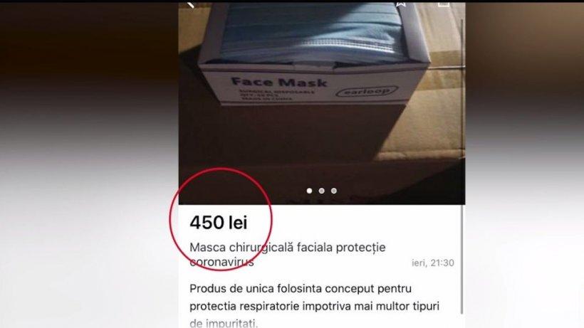 Preţul măştilor a explodat! Înregistrare discuţie cu un vânzător de măşti de pe internet - VIDEO