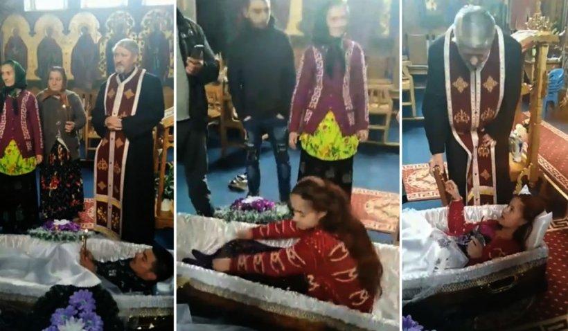 Tineri băgaţi în sicriu şi puşi să jure pe Biblie, ritual scandalos într-o biserică din Huedin 1121
