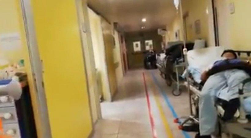 Imagini cutremurătoare dintr-un spital din Bergamo. Bolnavii de coronavirus, intubați pe holul spitalului din cauza lipsei de spațiu - VIDEO