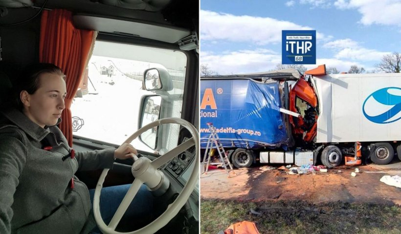 O șoferiță româncă de TIR, mamă a trei copii, a murit într-un cumplit accident în Franța