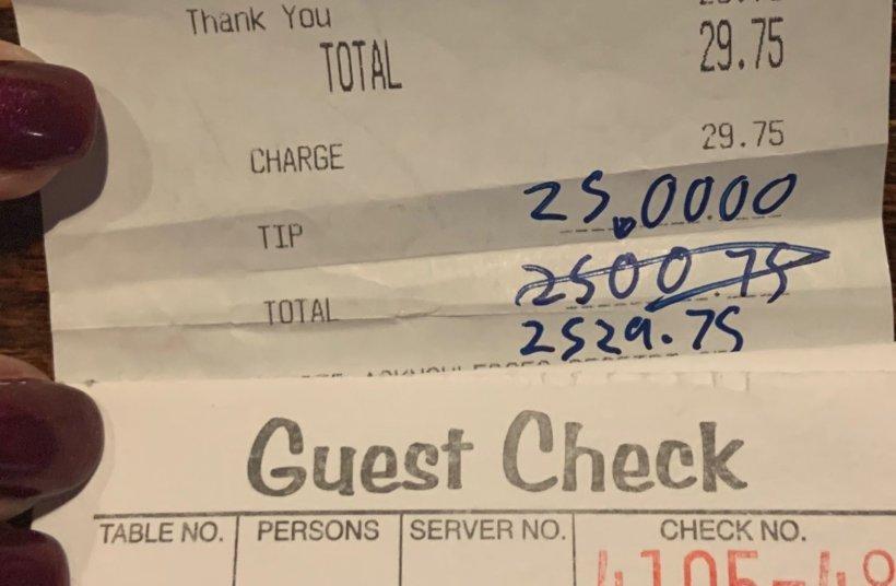 Bacșișul generos lăsat de ultimul client al unui restaurant, înainte de a fi închis din cauza pandemiei de coronavirus