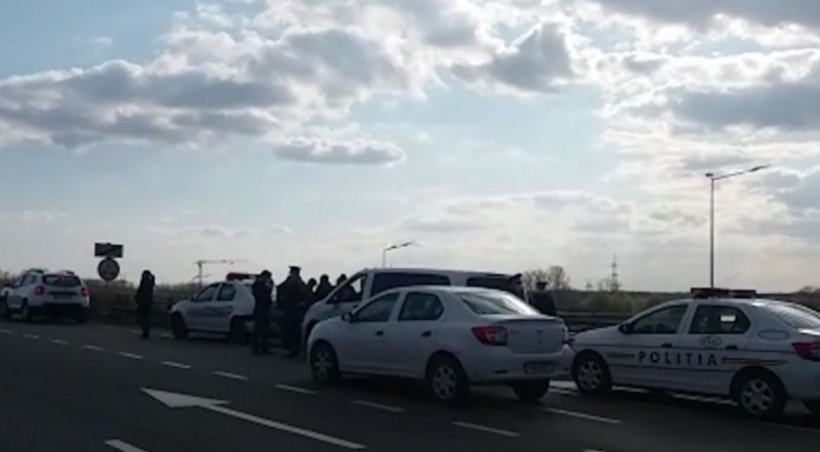 A fost alertă în Galați. Bărbat fugit din izolare, prins de polițiști într-un microbuz plin cu pasageri