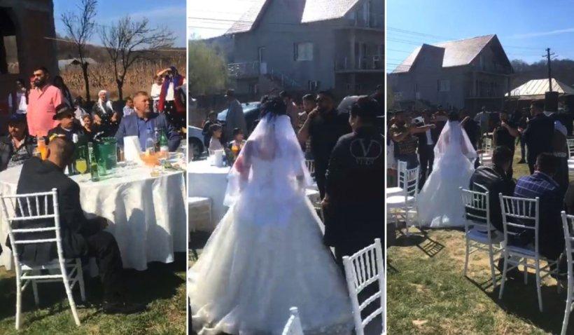 Nuntă cu 300 de persoane și invitați izolați din cauza epidemiei de coronavirus, în Borlești, Argeș
