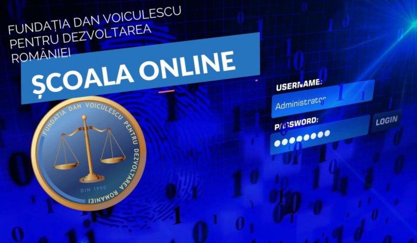 Program online de cursuri demonstrative, lansat de Fundația Dan Voiculescu pentru Dezvoltarea României