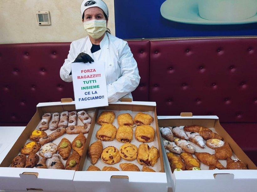 Româncă din Italia gătește gratis micul dejun pentru medicii care tratează bolnavii cu COVID-19: Mă trezesc la 4 dimineața, o fac pentru ei