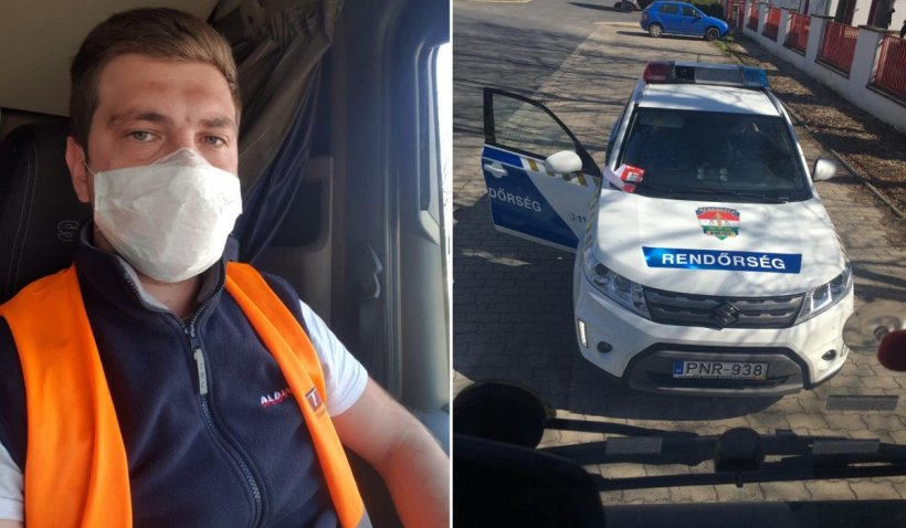 Șofer român de TIR, obligat să stea 14 zile în cabină de polițiștii din Ungaria: 'Dacă mă mișc, mă arestează'