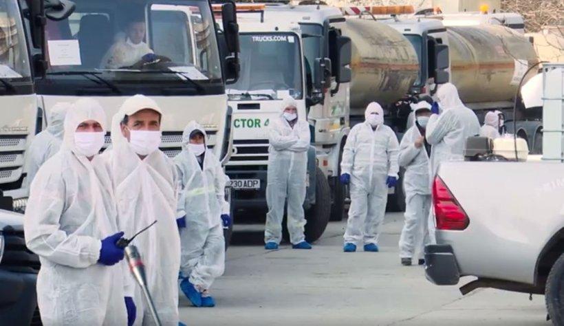Echipele de dezinfecție, aplaudate în Sectorul 4. Băluță: Avem 350 de persoane care se ocupă de proces