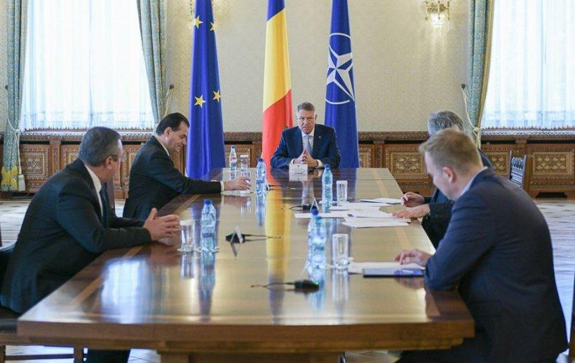 Președintele Klaus Iohannis, ședință cu Orban, Vela și Costache pe tema COVID - 19