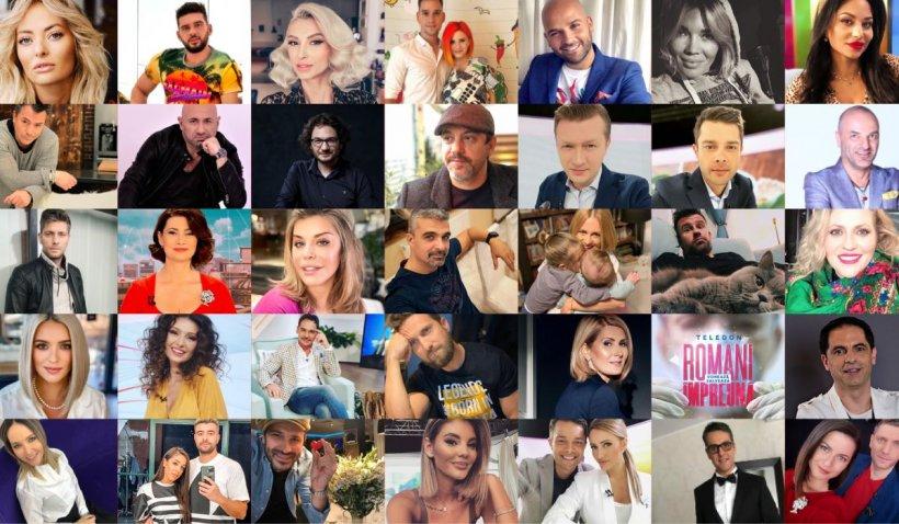 Zeci de vedete vor participa la teledonul 'Români Împreună' organizat de Antena Group