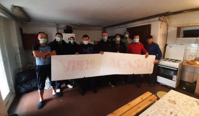 Zece șoferi de TIR, blocați în Polonia: 'Vrem acasă la copii, ajutați-ne!'