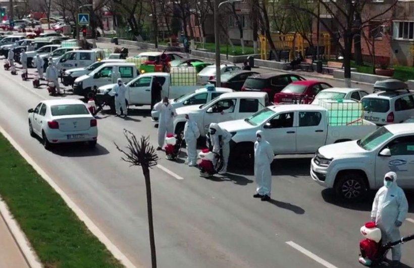 Autoritățile locale din București continuă operațiunea de dezinfecție