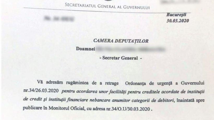 Florin Cîțu: Ordonanța privind amânarea ratelor nu este retrasă! Va fi corectată!