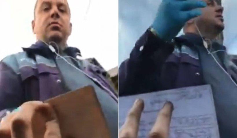 Șofer din Câmpulung, scandal cu un polițist: 'N-aveți voie să puneți mâna! Dacă iau coronavirus'