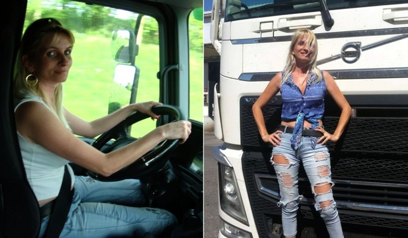 Crina e o șoferiță româncă de TIR duce alimente italienilor din focarele de coronavirus