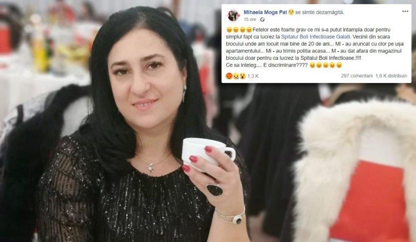 Asistentă din Galați, umilită de vecini: 'Mi-au aruncat cu clor, m-au dat afară din magazin'