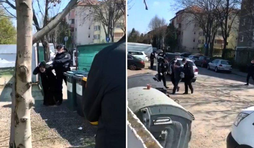 Români întorși din Germania, băgați cu forța de jandarmi în curte: 'Oameni buni, filmați!'