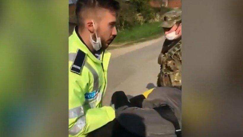 Amenințat cu arma și încătușat pentru că nu a respectat ordonanța militară