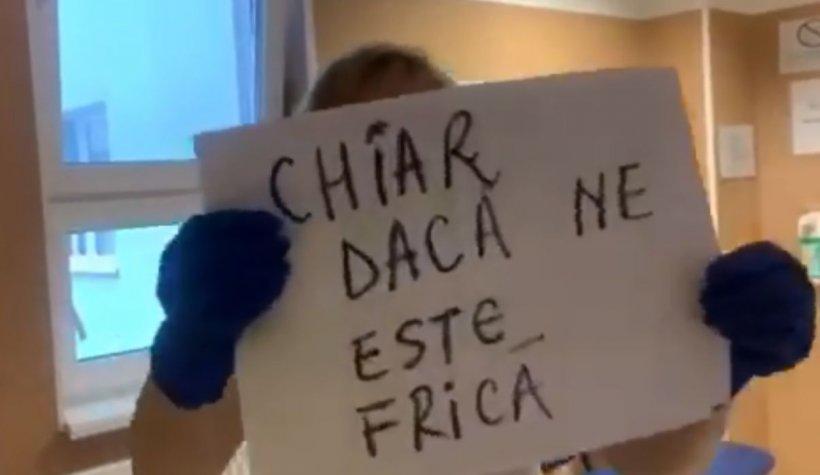 Imagini virale cu asistentele de la Deva după ce au ieșit din tură - VIDEO