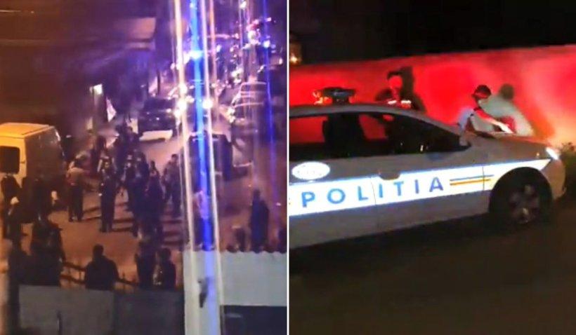 Sute de polițiști și jandarmi, scandal cu focuri de armă în București, după ce zeci de oameni au ieșit la grătar pe stradă