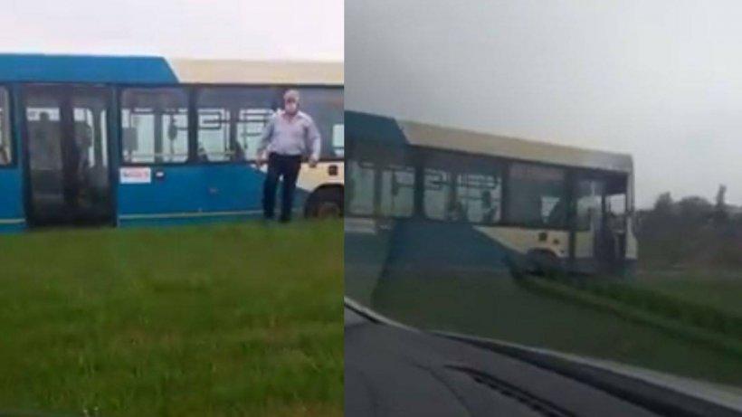 """Imagini de coșmar în Galați: Un șofer de autobuz filmat mergând pe contrasens: """"Discutăm de un pericol public"""" (VIDEO)"""