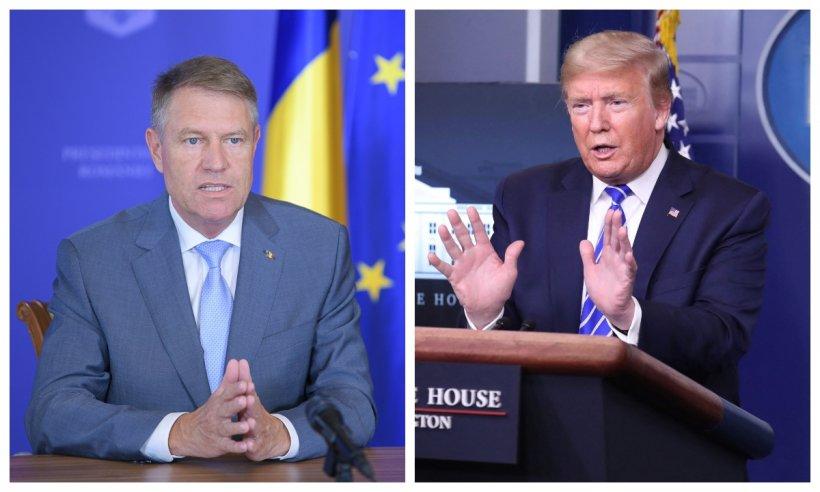Klaus Iohannis și Donald Trump, discuție telefonică legată de criza provocată de COVID-19