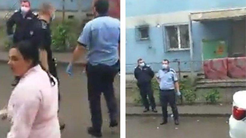 Scandal în Ferentari între polițiști și oamenii din zonă! Au intervenit mai multe echipaje (VIDEO)