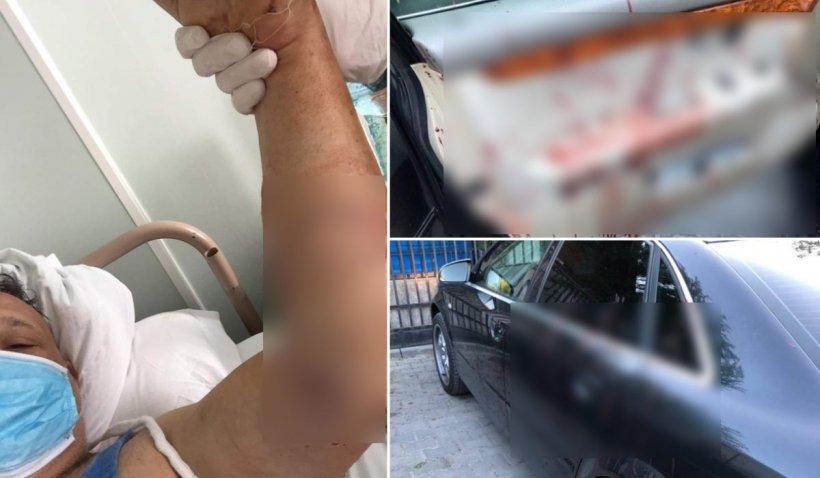 Răzbunare cu maceta în Călărași! Martor la o spargere, tăiat și aruncat în șanț, în fața copilului