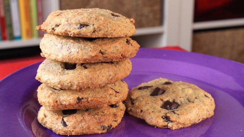 Biscuiți cu cocos și ciocolata. Perfecți pentru dietă, au numai 100 de calorii