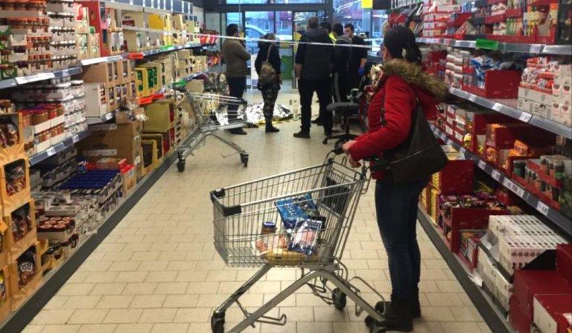 Un bărbat a murit într-un magazin din Sibiu, în timp ce făcea cumpărături