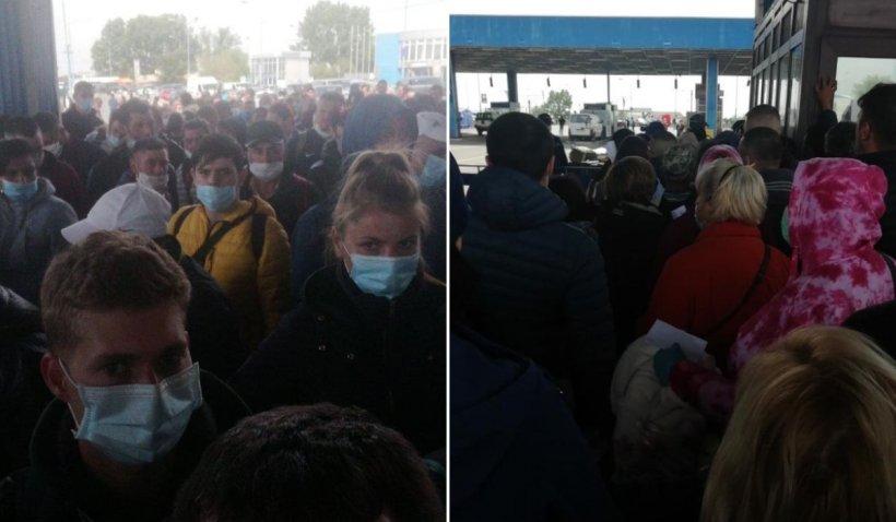 Revoltă la vama Nădlac, la intrarea în țară: 'Hoții! Lăsați mașinile să treacă!'