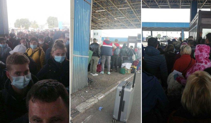 Sute de români blocați în vama Nădlac, la intrarea în țară: 'Stăm ore în șir'