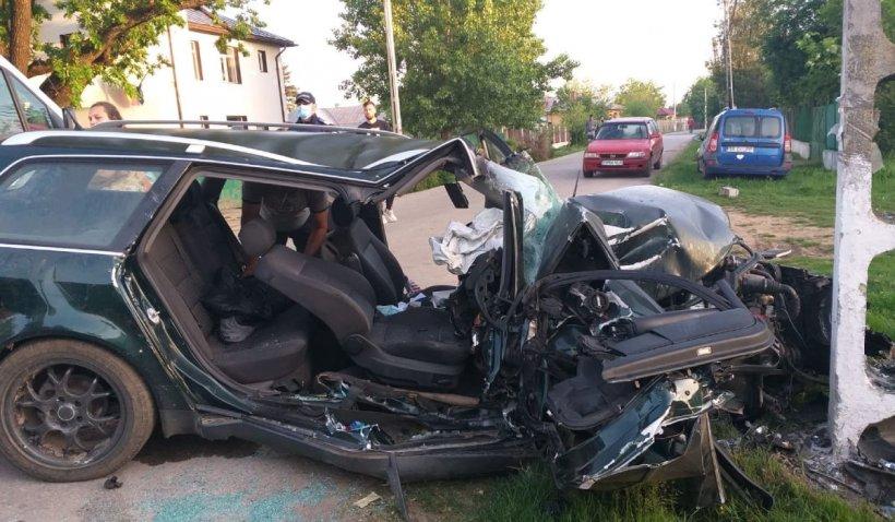 Tânăr de 26 de ani, mort într-un cumplit accident în Moșteni, Teleorman