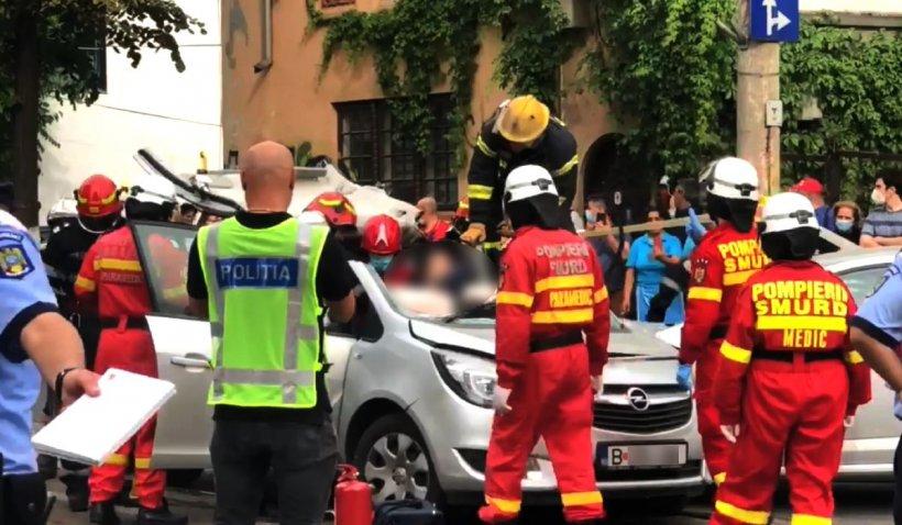 Accident cumplit, surprins în București: Chipul plin de sânge al victimei mi-e puternic întipărit pe retină