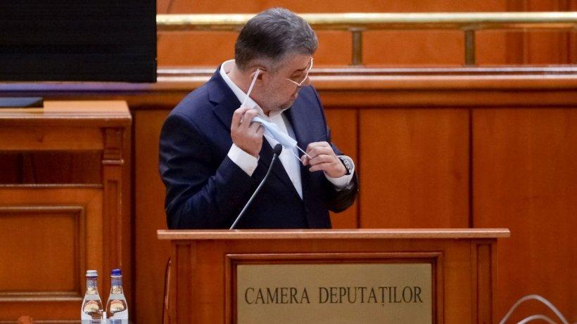 Marcel Ciolacu: Am o boală, de asta nu am purtat mască în Parlament