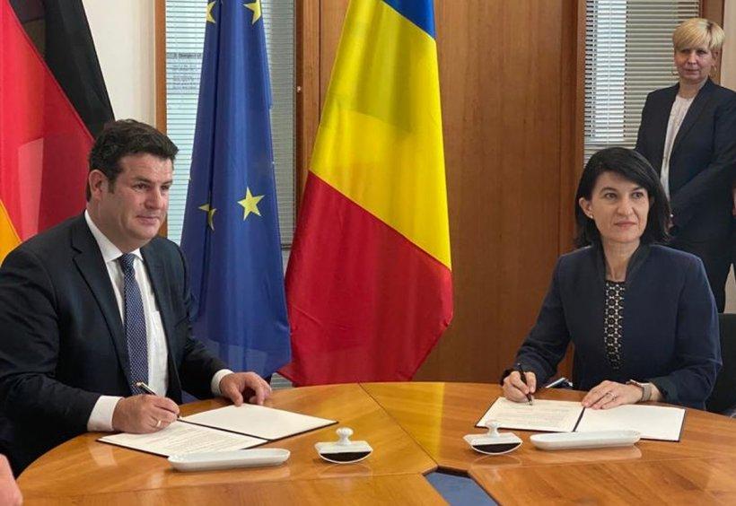 Declarație comună semnată de Violeta Alexandru și omologul german. Ministrul Muncii german: Situația românilor, inacceptabilă!