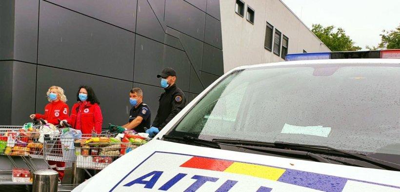 Polițiștii din Olt au donat sânge, iar cu tichetele primite au cumpărat alimente familiilor nevoiașe